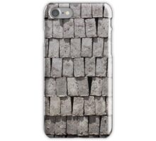 Gray Stacked Bricks iPhone Case/Skin