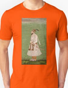 Vintage famous art - Anonymous - Portrait Of A Mughal Prince Possibly A Copy Of A Portrait Of Sultan Shuja (1616-1659) Unisex T-Shirt