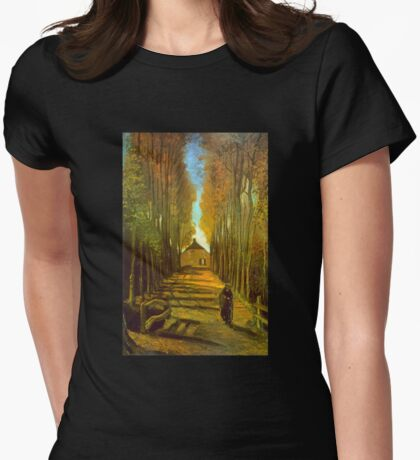 'Autumn' by Vincent Van Gogh (Reproduction) Womens Fitted T-Shirt