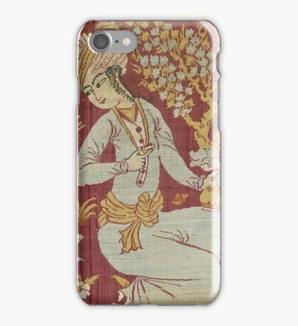 Vintage famous art - Anonymous - Textile Fragment iPhone Case/Skin