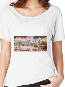 Wilmington, Delaware, Skyline Women's Relaxed Fit T-Shirt