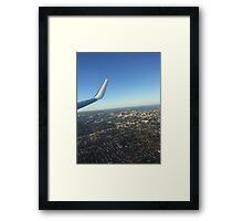 Wing view city Framed Print