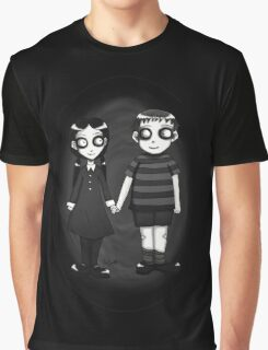 Dark little Wednesday and Pugsley Addams Graphic T-Shirt