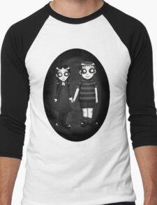 Dark little Wednesday and Pugsley Addams Men's Baseball ¾ T-Shirt