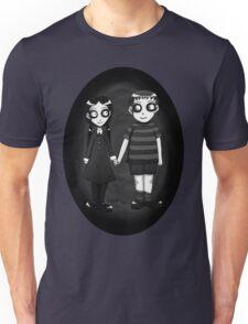 Dark little Wednesday and Pugsley Addams Unisex T-Shirt
