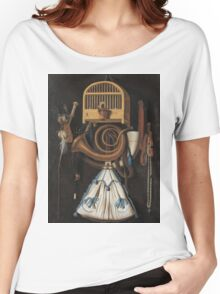 Vintage famous art - Anthonis Leemans - Hunting Gear, Still Life (1661) Women's Relaxed Fit T-Shirt