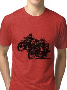 BUILT FOR SPEED-BOARD TRACK RACING Tri-blend T-Shirt