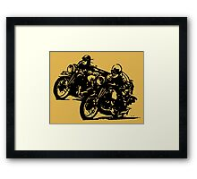 BUILT FOR SPEED-BOARD TRACK RACING Framed Print