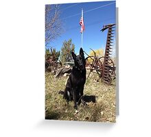 GSD US Flag Greeting Card
