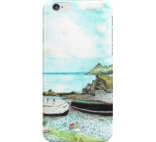 3 BOATS ON A BEACH iPhone Case/Skin