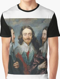 Vintage famous art - Anthony Van Dyck - Charles I Graphic T-Shirt