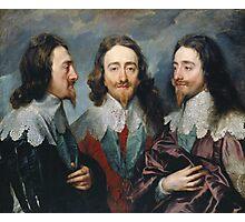 Vintage famous art - Anthony Van Dyck - Charles I Photographic Print