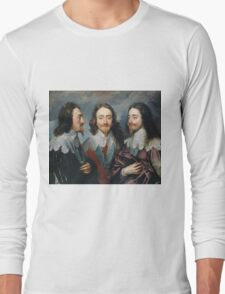 Vintage famous art - Anthony Van Dyck - Charles I Long Sleeve T-Shirt