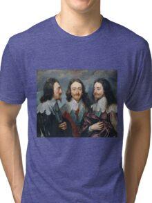 Vintage famous art - Anthony Van Dyck - Charles I Tri-blend T-Shirt