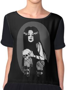 A Skull A Day Keeps People Away Chiffon Top
