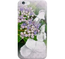 White Lace Cap Hydrangea Blossoms iPhone Case/Skin