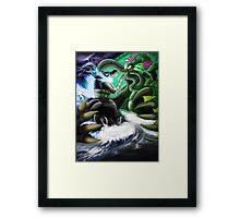 Godzilla Vs. Cthulhu Framed Print