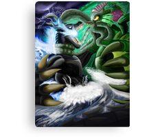 Godzilla Vs. Cthulhu Canvas Print