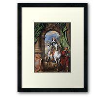 Vintage famous art - Anthony Van Dyck - Charles I With Monsieur De St Antoine Framed Print