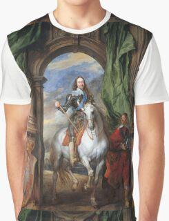 Vintage famous art - Anthony Van Dyck - Charles I With Monsieur De St Antoine Graphic T-Shirt