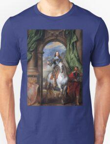 Vintage famous art - Anthony Van Dyck - Charles I With Monsieur De St Antoine Unisex T-Shirt