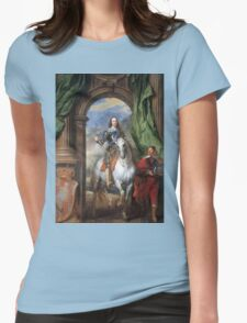 Vintage famous art - Anthony Van Dyck - Charles I With Monsieur De St Antoine Womens Fitted T-Shirt