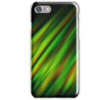 Colorful neon green brush strokes on dark gray iPhone Case/Skin