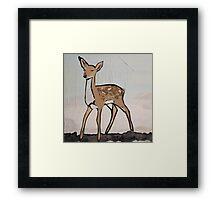 Digital Pop Art Modern Deer Framed Print