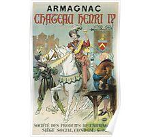 Vintage famous art - Poster - Armagnac Chateau Henry Iv  Poster