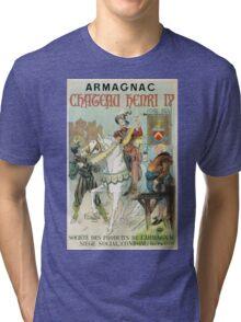 Vintage famous art - Poster - Armagnac Chateau Henry Iv  Tri-blend T-Shirt