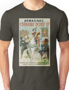 Vintage famous art - Poster - Armagnac Chateau Henry Iv  Unisex T-Shirt