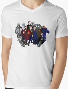 Doctor Who Mens V-Neck T-Shirt