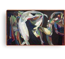 Vintage famous art - Arthur Bowen Davies - Dances Canvas Print