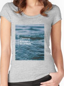 Skilled Sailor Life Motto  Women's Fitted Scoop T-Shirt