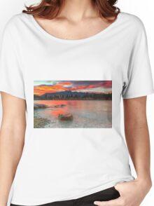 Scarlet Sunrise - Queenstown New Zealand Women's Relaxed Fit T-Shirt