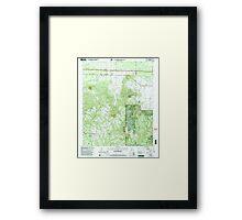 USGS TOPO Map Alabama AL Newburg 304677 2000 24000 Framed Print