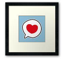 Kawaii heart Framed Print