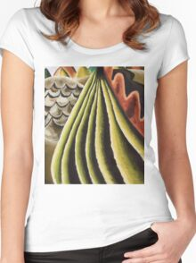 Vintage famous art - Arthur Garfield Dove - Fields Of Grain As Seen From Train Women's Fitted Scoop T-Shirt