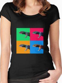 Warhol Gecko Women's Fitted Scoop T-Shirt