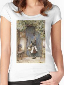 Vintage famous art - Arthur Hopkins - The Visitor  Women's Fitted Scoop T-Shirt