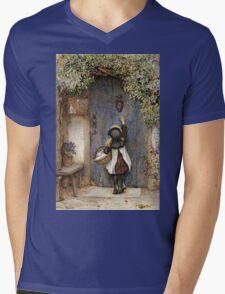 Vintage famous art - Arthur Hopkins - The Visitor  Mens V-Neck T-Shirt