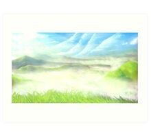 Misty Valley Speed Painting Art Print