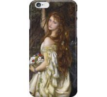Vintage famous art - Arthur Hughes - Ophelia And He Will Not Come Back Again iPhone Case/Skin