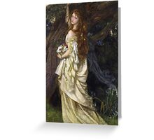 Vintage famous art - Arthur Hughes - Ophelia And He Will Not Come Back Again Greeting Card