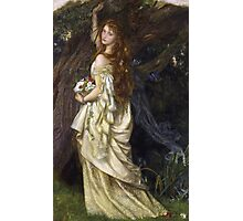 Vintage famous art - Arthur Hughes - Ophelia And He Will Not Come Back Again Photographic Print