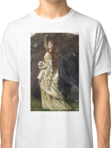 Vintage famous art - Arthur Hughes - Ophelia And He Will Not Come Back Again Classic T-Shirt