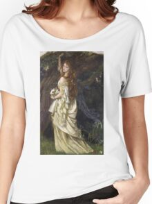 Vintage famous art - Arthur Hughes - Ophelia And He Will Not Come Back Again Women's Relaxed Fit T-Shirt