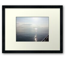 Summer Sunset at the Sea Framed Print