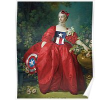 Lady Captain America, 18th Century Style Poster