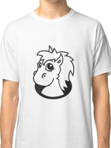 bottomless hole foal sweet cute sitting comic cartoon pony horse pferdchen kawaii child girl baby Classic T-Shirt